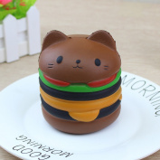 Stress Reliever Toys, TUDUZ Newest Funny Creative Kawaii Jumbo Cartoon Cat Hamburger Scented Slow Rising Exquisite Kid Soft Toy Gift