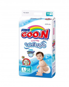 Japanese nappies Goo.n L- (9-14kg) 58 psc