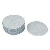 Unique Bargains 13cm Dia Polishing Round Dry Abrasive Sanding Sandpaper Sheet Disc 400 Grit 50pcs