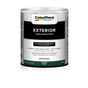 Colour Place White Flat Exterior Paint Qt