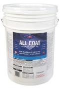 H & K Paint Company Acrylic Latex Paint Interior/Exterior Semi Gloss Basic White 5 Gl