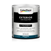 ColorPlace Exterior Semi-Gloss Paint, White