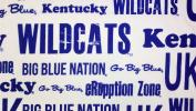 Kentucky Wildcats 100% Polyester (FLAT SHEET ONLY) Size FULL Boys Girls Kids Bedding