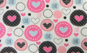 Lots of Love 100% Polyester (FLAT SHEET ONLY) Size TWIN Girls Kids Bedding