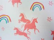 Pink Unicorns 100% Cotton (FLAT SHEET ONLY) Size TODDLER Girls Kids Bedding