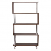 80cm x 30cm x 150cm Modern 4 Shelves Wooden Storage Bookshelf