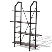 4 Layers Wooden Storage Bookshelf Home Office Furniture