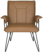 Safavieh Home Collection Johannes Camel Arm Chair, Multicoloured