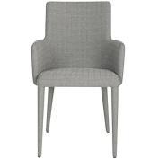 Safavieh Home Collection Summerset Mid-Century Modern Grey Linen Arm Chair