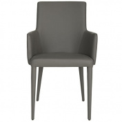 Safavieh Home Collection Summerset Mid-Century Modern Grey Arm Chair