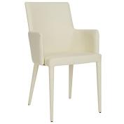 Safavieh Home Collection Summerset Mid-Century Modern Buttercream Arm Chair