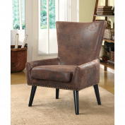 Overstock Zita High Back Traditional Arm Chair, Beige