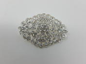 Large Vintage Style Oval Diamante Encrusted Brooch x 6cm