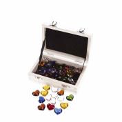 Heaven Sends Coloured Glass Hearts In Box Set (64 pcs) (2.5cm)