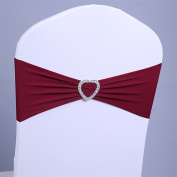 bismarckbeer 10Pcs Chair Sashes Band with Buckle Wedding Reception Banquet Party Decoration