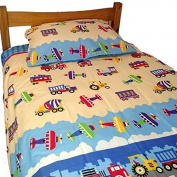 Cot Duvet Cover Set 100% Cotton- Transportation, Cotton Cot Duvet Cover Set, Transport Cot Duvet Cover 100% Cotton