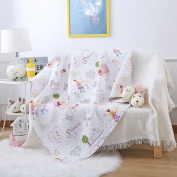 Ustide Cotton Quilts Covers for Cots Gilrs 110x130cm Reversible Quilt Cover for Crib Colourful Throw Blanket, Princess