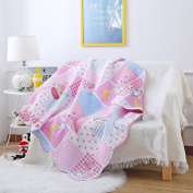 Ustide Cotton Quilts Covers for Cots Gilrs 110x130cm Reversible Quilt Cover for Crib Colourful Throw Blanket, Baby Girls