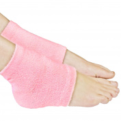 Galaxy Beauty Spa Gel Heel Socks Pink Moisturising Repair Dry Rough Cracked Skin Toe Open Silicone Feet Care