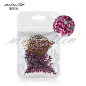 Mix Sizes 400PCS/Pack Crystal Clear AB Non Hotfix Flatback Rhinestones Nail Rhinestones For Nails 3D Nail Art Decoration Gems