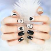goldenssy 24pcs False Nails French Polish Colour Pure Elegant Fake Nail complets Manicure False Nail Tips Short Moyen UK Gift Christmas Women