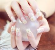 goldenssy 24pcs Full False Nail Tips D ¨ ¦ grad ¨ ¦ Long Pure Colour Gradient Colours Fran. Ais Twinkle Glitter Manicure False Nail Tips