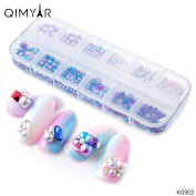 Nail Art DIY Decoration QIMYAR Pearl Beads Nail Polish Art Fashion Accessory 3mm/4mm/5mm/6mm