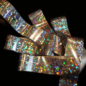 SILVER BROKEN GLASS Holographic Nail Art Foil