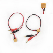 2 Pcs XT60 To Banana Plug Connector 4mm Balance Battery Charger Cable Lead RC Lipo Accessories Spare Parts
