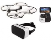 The Sharper Image 37cm . Lunar Drone with HD Camera & Virtual Reality Smartphone Viewer