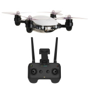 JME App Controlled Drone with 4K Camera 2 Axis Gimbal (White) and Remote Controller