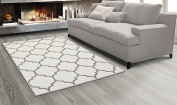 Sweet Home Stores King Collection Moroccan Trellis Design Area Rug, 160cm L x 210cm W, Cream