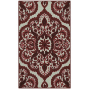Accent Rug, Maples Rugs [Made in USA][Vivian] 0.3m2.4m x 0.6m10 Non Slip Padded Small Throw Rugs for Living Room, Bedroom, and Kitchen - Garnet Red