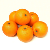 ALEKO 6AFORG Decorative Realistic Artificial Fruits - Package of 6 Oranges