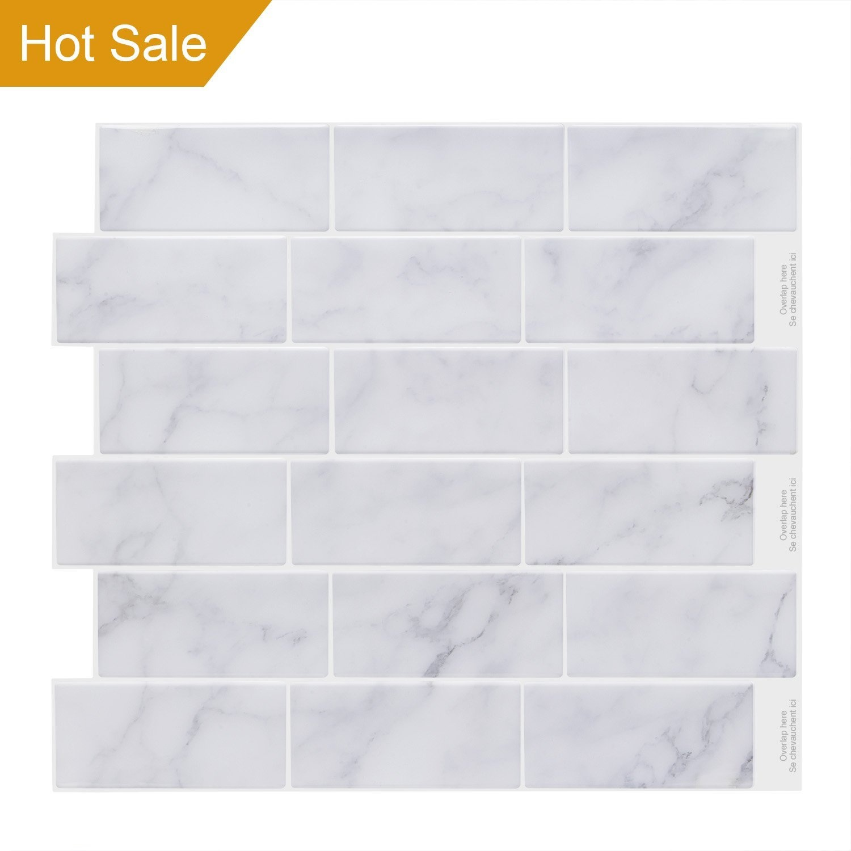 Vamos Tile Premium Anti Mould Peel and Stick Tile Backsplash,Self ...