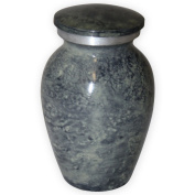 Beautiful Life Urns Apollonia Grey Keepsake Urn for Ashes - Small Size - NOT Intended for Full Cremation Ash Quantity