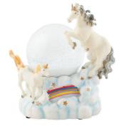 Mystical Unicorns 100mm Resin Water Globe Plays Tune You Are My Sunshine