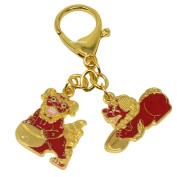 "Fengshui ""TZI CHI KAU"" Red Dog Amulet keychain W Fengshuisale Red String Bracelet W3362"