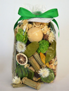 Manu Home Lemongrass Potpourri Bag-350ml Infuse the room with the fresh, soothing lemongrass scent of this potpourri for clean, relaxing atmosphere ~ Made In USA!