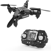 TENKER SKYRACER Foldable Mini RC drone with Altitude Hold Mode, One Key Take off Landing, 3D Flips and Headless Mode Easy Fly Steady for Beginners