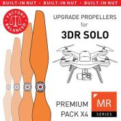 3DR Solo Built-in Nut Upgrade Propellers in Orange - x4 propellers