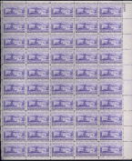 Supreme Court Building Complete Sheet of 50 3 Cent Stamps Scott 991