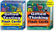 Gifted Testing Flash Cards (2-Pack) – Verbal and Spatial Concepts for Pre-K - 2nd Grade – Practise for CogAT test, OLSAT test, NNAT test, NYC Gifted and Talented, ITBS test, WISC, WPPSI, AABL