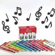 Made With Tone, Piano Chords Flash Cards, a Great Gift for Music Lovers and Beginner Musicians! All The Major Chords and Notes for Keyboard!