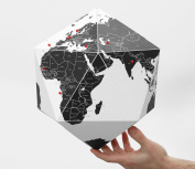Here Foldable Personal Globe ~World by Countries ~3 Dimensional Quality Graphic Paper Globe ~ MEDIUM