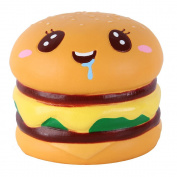 Anboor 8.9cm Squishies Hamburger Big Eye Slow Rising Kawaii Scented Squishies Animal Collection Toy for Kids 1 Pcs Colour Random
