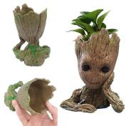 Creative MV Movie Flowerpot Groot ABS Model Figure Toy Baby Groot Antistress Guardians 2 DJ Tree Man Pen Container Desk Decoration Gift