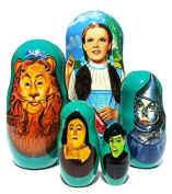 Great Russian Gifts Wizard Of Oz Nesting Doll 5-Piece Set - 10cm tall