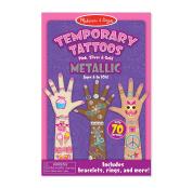 Melissa & Doug Temporary Tattoos-Metallic