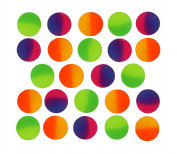 Icy Super Balls - 32mm Vibrant Two Tone Colour Bouncy Balls 24 pack